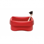 Normann Copenhagen - Washing-Up Bowl Abwaschschüssel & Bürste Rot