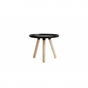 Normann Copenhagen - Tablo Coffee Table round small Black - Natural