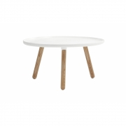 Normann Copenhagen - Tablo Coffee Table round large White - Natural