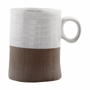 House Doctor - The Mug Mug White / Brown
