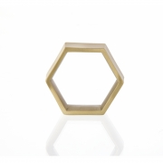 Ferm Living - Hexagon Serviettenringe (4 Stk.)