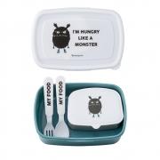 Bloomingville - Kids Lunchbox Kinder-Brotdose mit Besteck