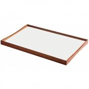 Architectmade - Turning Tray Tablett (48 x 30 cm)   schwarz/weiß