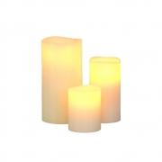 Klein & More - LED Echtwachs-Kerzen 3er-Set