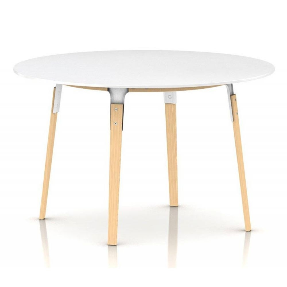 Magis steelwood table tisch rund nunido for Magis steelwood