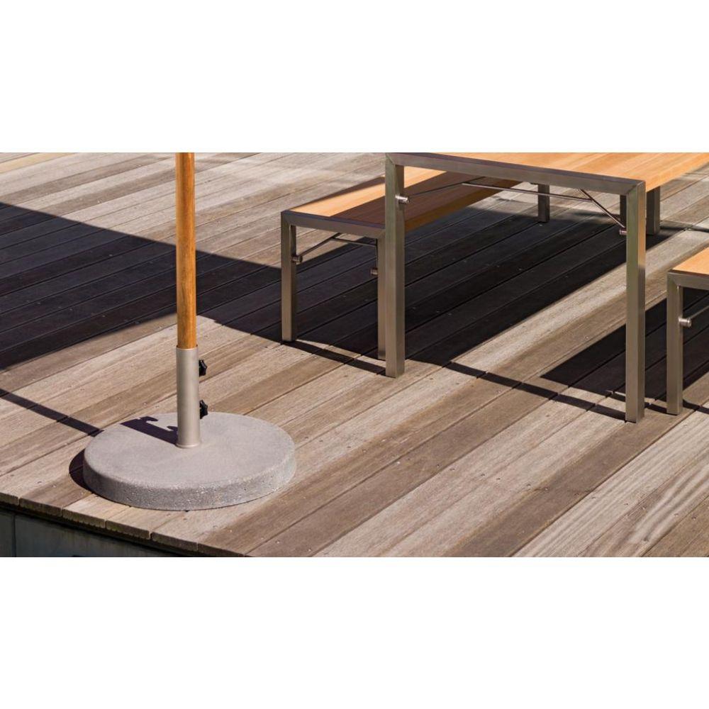 weish upl bodenplatte beton klassiker 300x300 260x350cm teak 300x300cm nunido. Black Bedroom Furniture Sets. Home Design Ideas