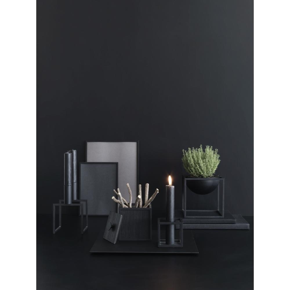 by lassen kubus 1 kerzenst nder schwarz nunido. Black Bedroom Furniture Sets. Home Design Ideas