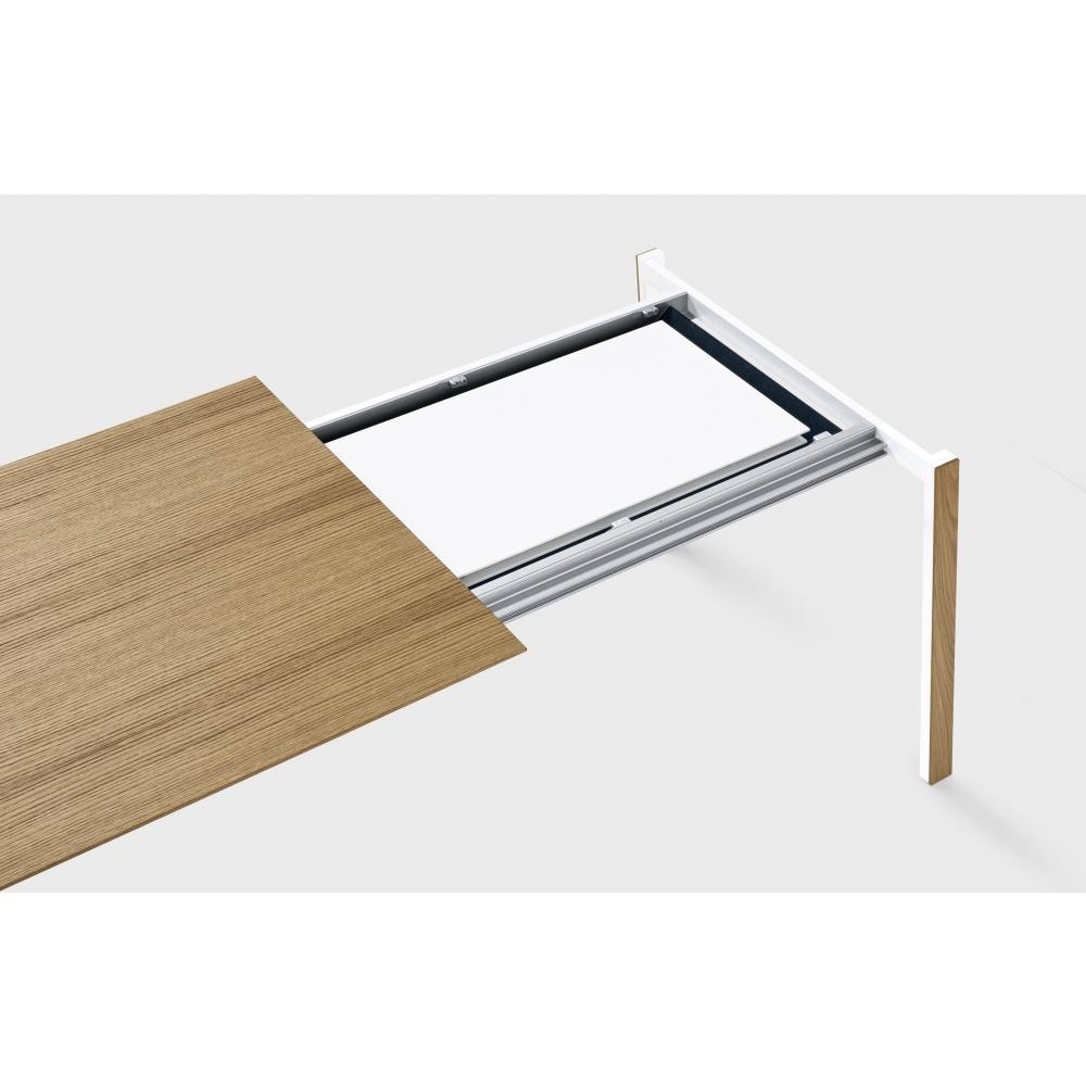 Tisch Quadro Hochgl Weiss Eiche Sonoma 75×75 Couchtisch