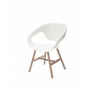 Casamania - Vad Wood Stuhl Weiß | Holz | Eiche Natur