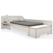 Plane Einzelbett mit Bettkasten