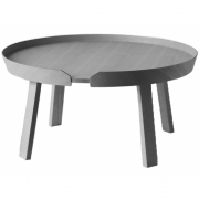 Muuto - Around Coffee Table Groß | Dunkelgrau