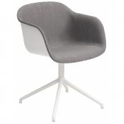 Muuto - Fiber Chair Drehstuhl mit Polsterung vorne