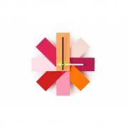 Normann Copenhagen - Watch Me Wall Clock Pink