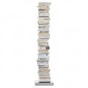 Opinion Ciatti - Ptolomeo Büchersäule freistehend 160 cm | Weiß-Edelstahl