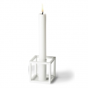 by Lassen - Kubus 1 Candle Holder White