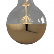 Nook London - Small Globe Led Filament Gold Cap