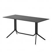 Kristalia - Poule Double Tisch 120 x 60 cm | Laminat Schwarz | Schwarz | klappbar