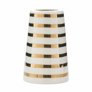 House Doctor - Sailor Stripes Vase Gold/Weiß