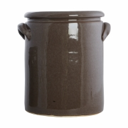 House Doctor - Pottery Blumentopf M   Braun