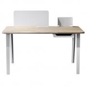 Case Furniture - Mantis Schreibtisch Echse-Weiss