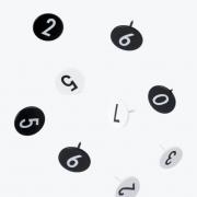 Design Letters - Stecknadeln 0 - 9 (30 Stk.)