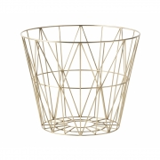Ferm Living - Wire Korb Klein | Messing