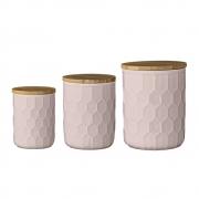 Bloomingville - Jar with Lid 15 Set Rose