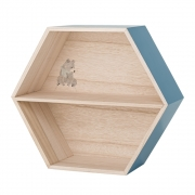 Bloomingville - Hexagonal Box Wandregal