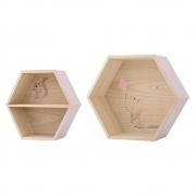 Bloomingville - Box Wandregal Set