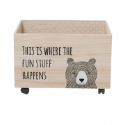 Bloomingville - Child Storage Box 2 Spielzeugkiste mit Rollen