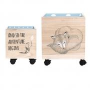 Bloomingville - Child Storage Box 4 Spielzeugkiste mit Rollen