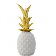 Bloomingville - Deco Pineapple White/Gold Deko - Ananas