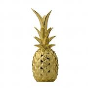 Bloomingville - Deco Pineapple Gold Deko - Ananas