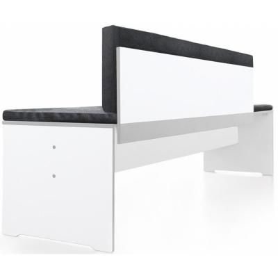 Conmoto - Rückenkissen für Riva Bank Beigegrau Bank M-L (160 cm)