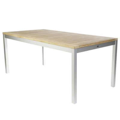 Jan Kurtz - Quadrat Tisch 160 x 80 cm | Schwarz | Teak | nunido.