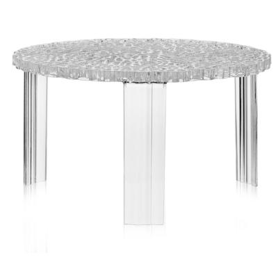 Kartell - T-Table Beistelltisch 28 cm | Glasklar | nunido.