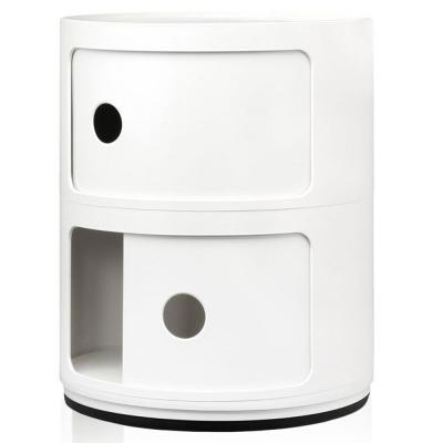 Kartell - Componibili Ø 32 cm 2 Fächer   Weiß