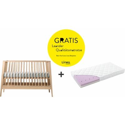 Leander - Linea Babybett mit kostenloser Qualitätsmatratze