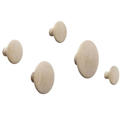 Muuto - The Dots Coat Hooks (Set of 5) Oak