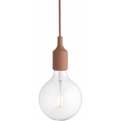 Muuto - E27 Pendelleuchte LED Terracotta