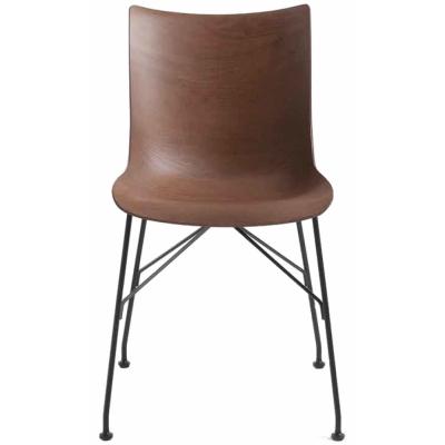 Kartell - P/Wood Chair Dark Veneer / Black