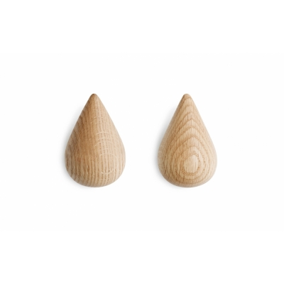 Normann Copenhagen - Dropit Patère (Lot de 2) Grande | Naturel