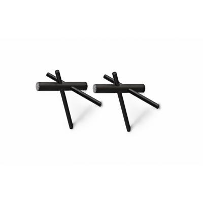 Normann Copenhagen - Sticks Haken schwarz Schwarz
