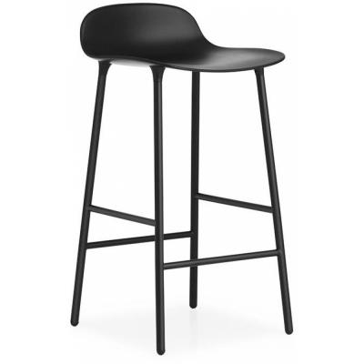 Normann Copenhagen - Form Barhocker 65 cm | Schwarz/Stahl