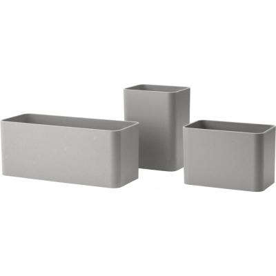 String - Aufbewahrungsboxen für String® System (3er Set) Grau