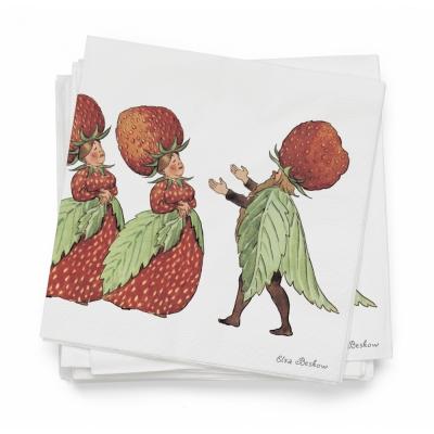 Design House Stockholm - Elsa Beskow Papierservietten (20 Stk.) The Strawberry family