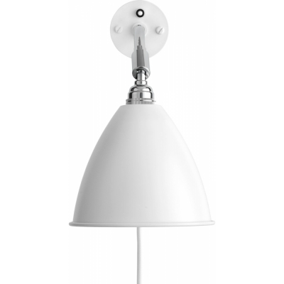 Gubi - Bestlite Wall Lamp BL7 Chrome - Matt White