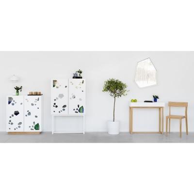 A2 - Sneak peek Cabinet Wandschrank hoch weiß geölte Eiche