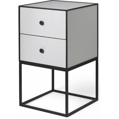 by Lassen - Frame Sideboard 35 mit zwei Schubladen Hellgrau