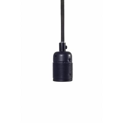 Frama - E27 Hängeleuchte Schwarz matt (Kabel: Schwarz)